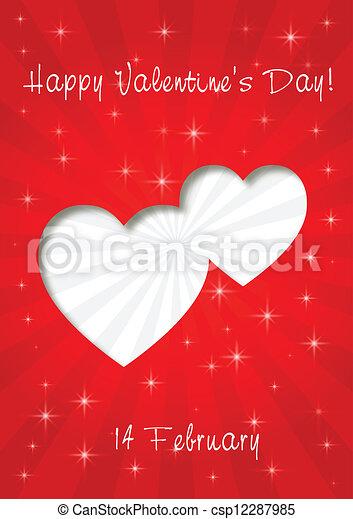 happy valentines day card - csp12287985