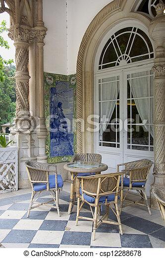 bilder von balkon st hle tisch a balkon basierend st hle csp12288678 suchen sie. Black Bedroom Furniture Sets. Home Design Ideas