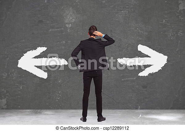 undecided young business man - csp12289112