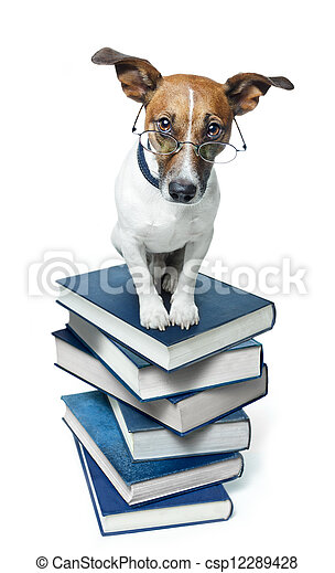 書, 狗, 堆 - csp12289428