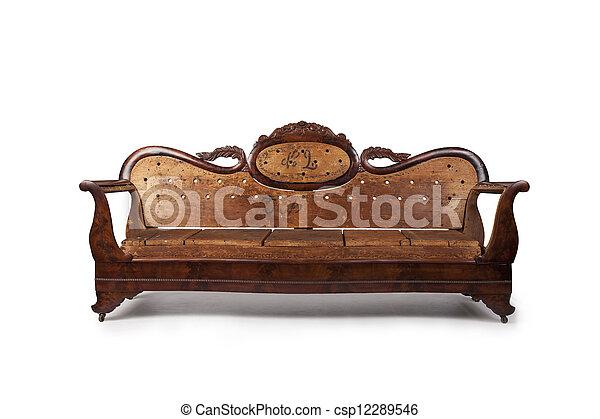 Antique Wooden Couch - csp12289546