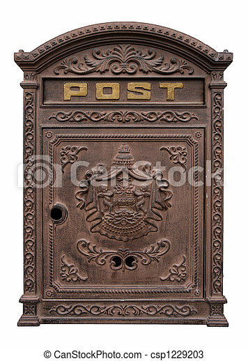 Antique postbox - csp1229203