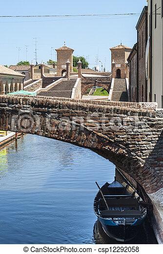 Comacchio - Bridges and boats - csp12292058