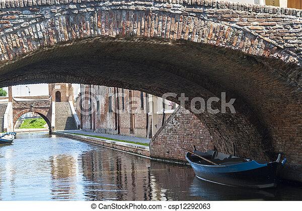 Comacchio - Bridges and boats - csp12292063