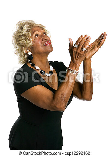 African-American woman praising - csp12292162