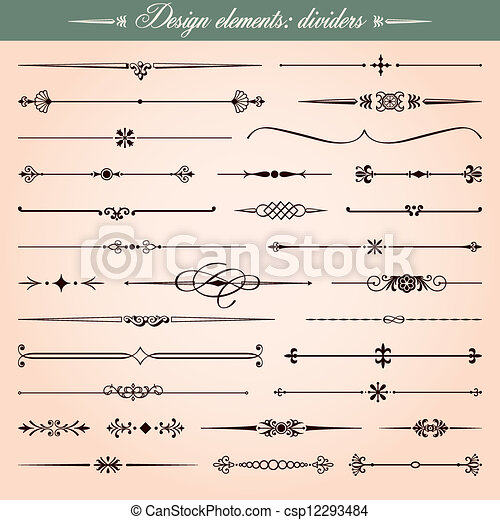 Design elements dividers and dashes - csp12293484