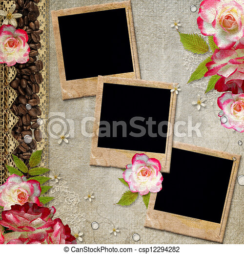 stock illustration von album decke blumen spitze bohnenkaffee gesteckt csp12294282. Black Bedroom Furniture Sets. Home Design Ideas