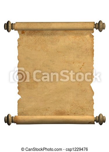 Scroll of old parchment - csp1229476