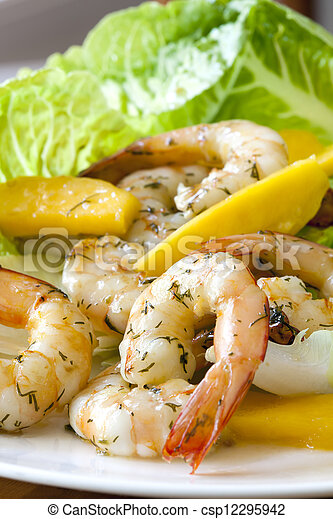 Shrimp Salad with Mango - csp12295942