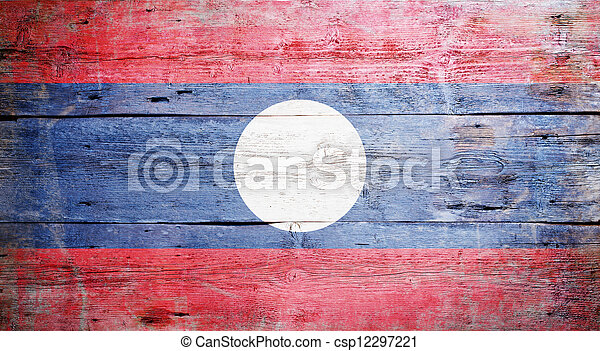 Flag of Laos - csp12297221