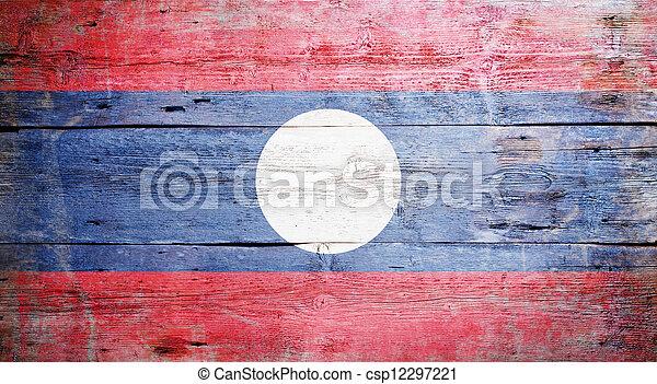 Flag of Laos - csp12297221