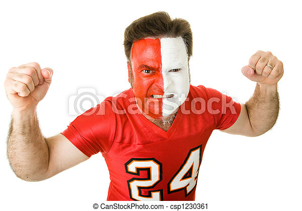 Angry Sports Fanatic - csp1230361