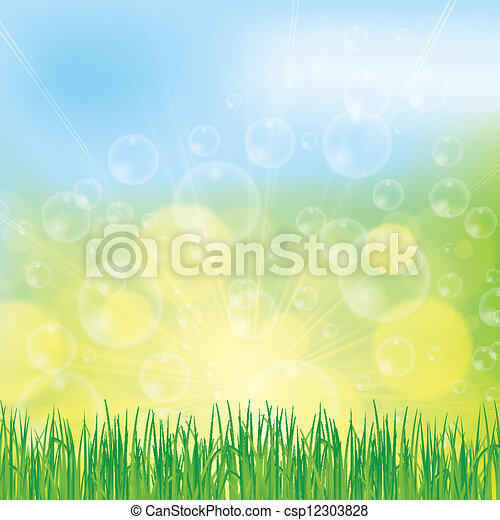 Abstract spring summer background - csp12303828