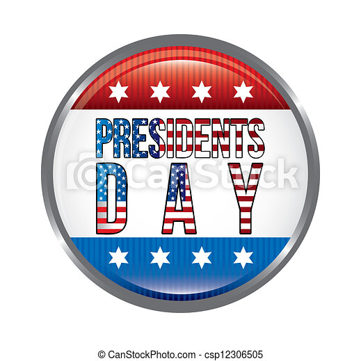 Vector Clipart of presidents day background, united states. vector ...