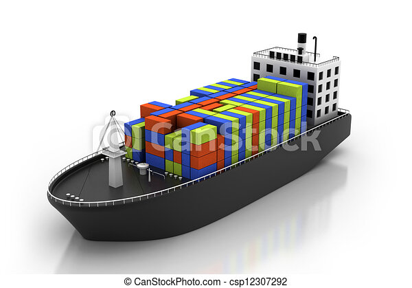 Stock Illustration of Container ship csp12307292 - Search ...