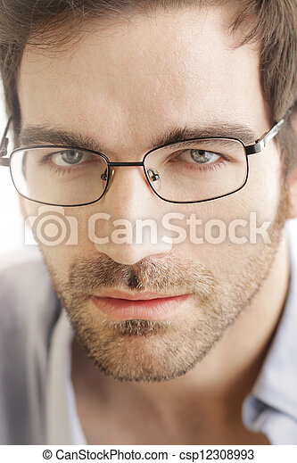 Man face with glasses - csp12308993