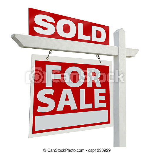 Sold Real Estate Sign - csp1230929