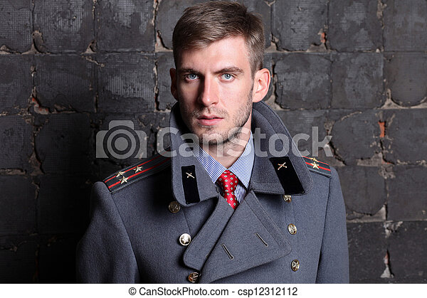 Russian military officer - csp12312112