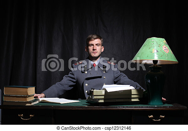 Russian military officer - csp12312146