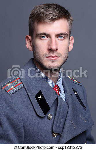Russian military officer - csp12312273