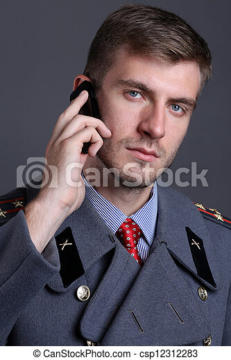 Russian military officer - csp12312283
