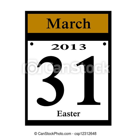 easter 2013 date - csp12312648