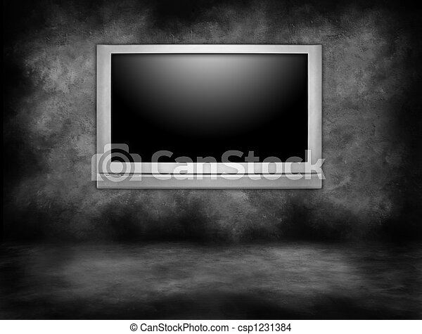 High Definition Plasma Television Hanging - csp1231384