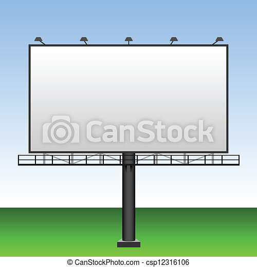 Clipart vecteur de grand vide ext rieur publicit for Panneaux publicitaires exterieur