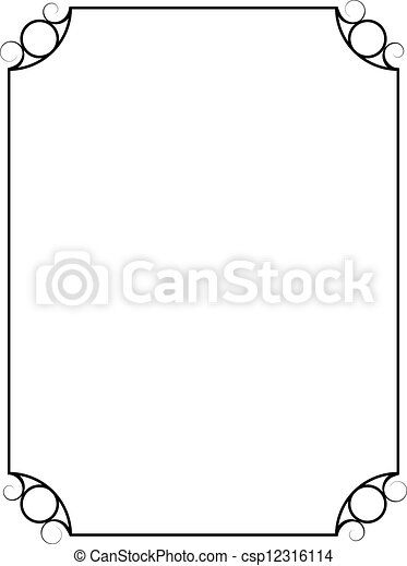 Simple Rectangle Frame Clipart Vector Clip Art Of