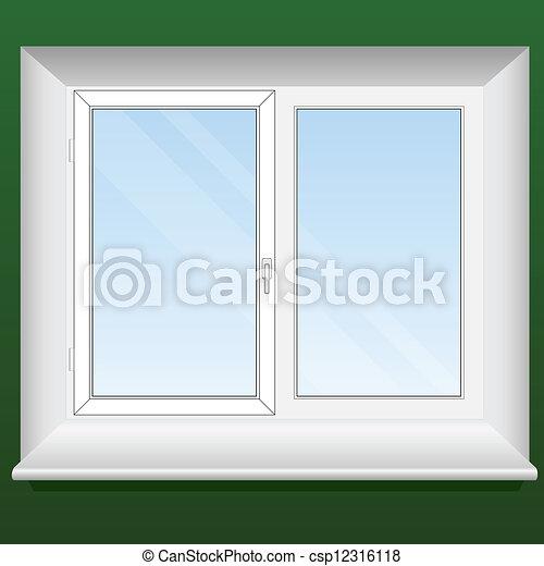 Vektor clip art von ffnung blatt pvc abbildung eins for Fenster 800x800