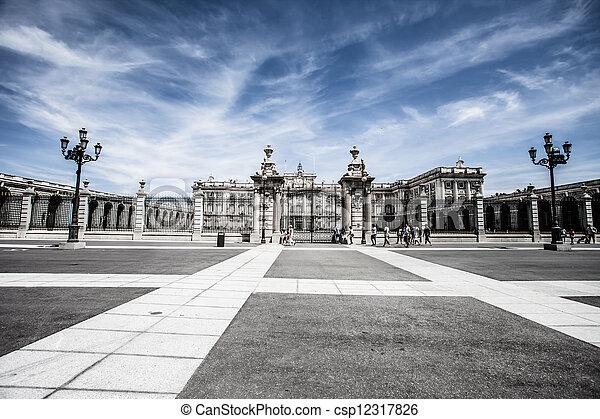 Madrid Royal Palace. Palacio de Oriente, Madrid landmark, Spain.  - csp12317826