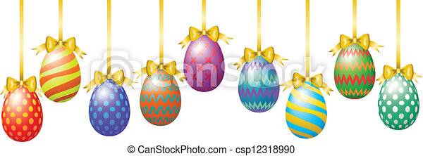 Easter eggs - csp12318990