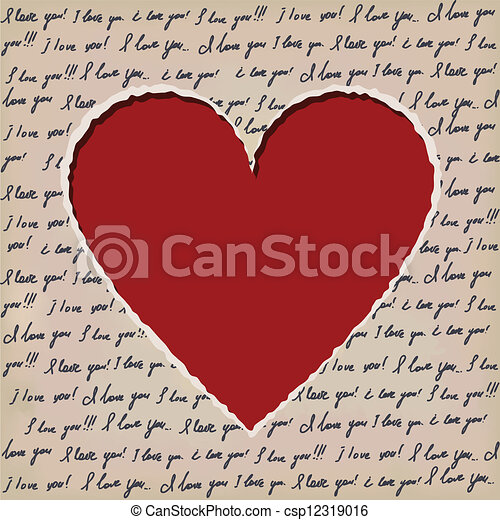 Valentines scrapbooking card - csp12319016