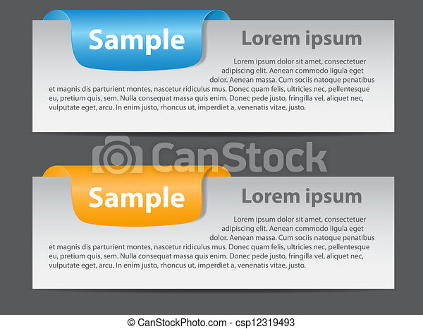 Sale banner with place for your text. vector illustration - csp12319493