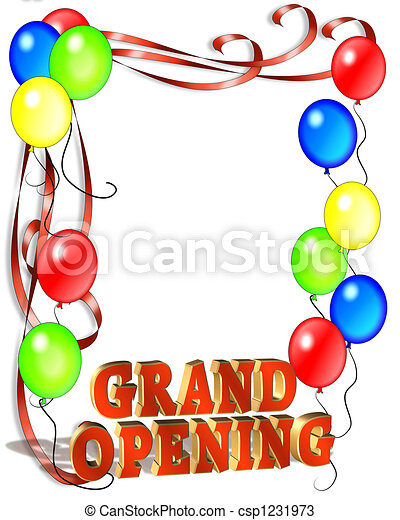 Grand Opening Balloons Template - csp1231973