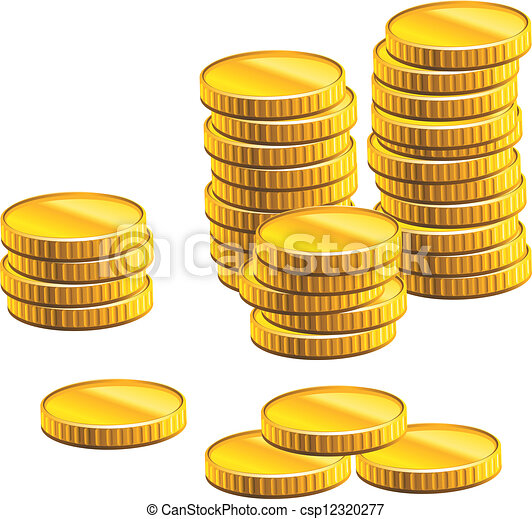 Many gold coins - csp12320277