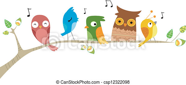 Birds Singing - csp12322098