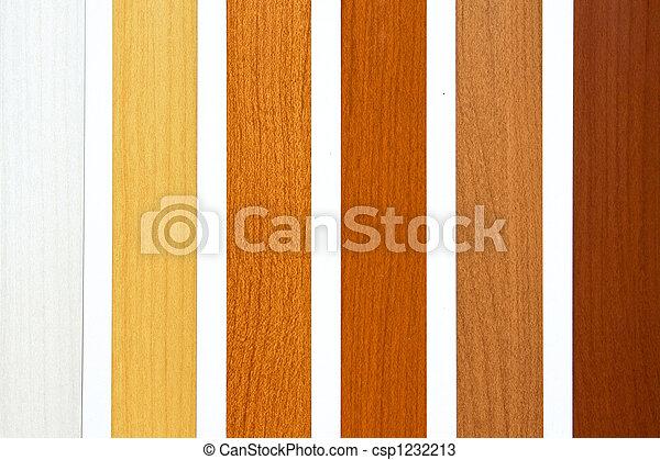 stock fotos von farbe holz sechs ahorn holz proben in brauner csp1232213 suchen. Black Bedroom Furniture Sets. Home Design Ideas