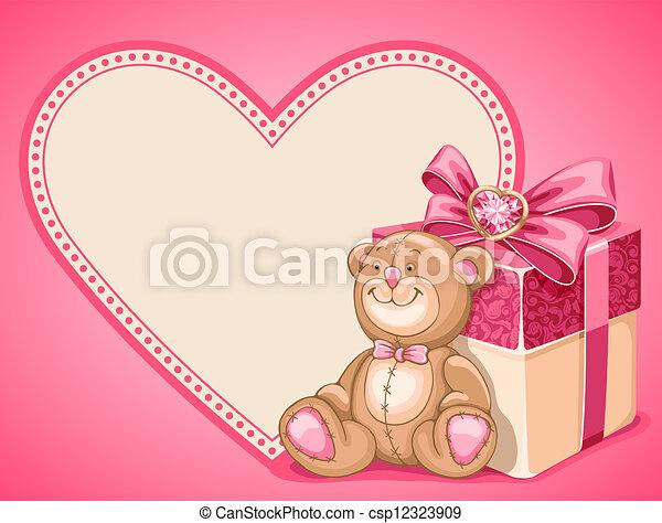 Background on Valentines Day - csp12323909