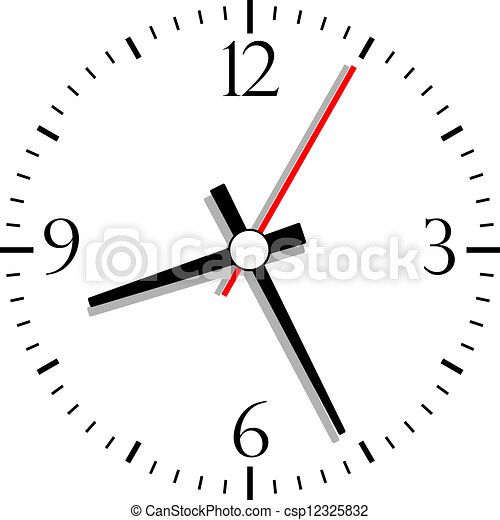Numbered clock, vector illustration - csp12325832
