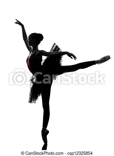 young woman ballerina ballet dancer dancing - csp12325854