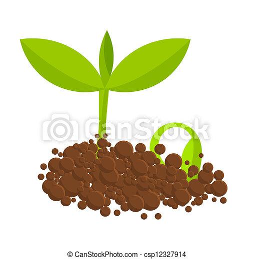 Vector clip art de plantas germinal germinar plantas for Suelo organico dibujo animado