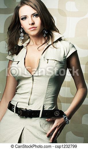 Fashion girl posing - csp1232799
