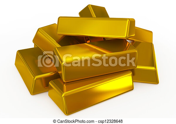 drawing of gold bars pile csp12328648 search clip art