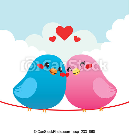 Loving Bird Couple - csp12331860