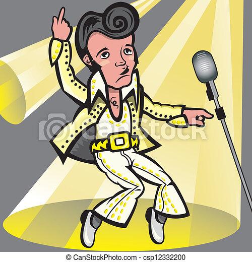 , royalty-vrije... Elvis Clipart Graphics Free
