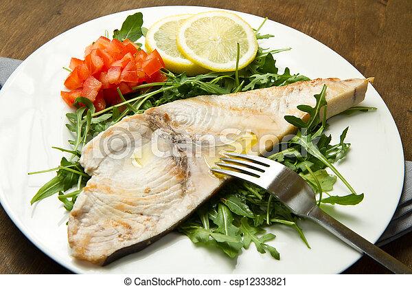 roasted swordfish - csp12333821