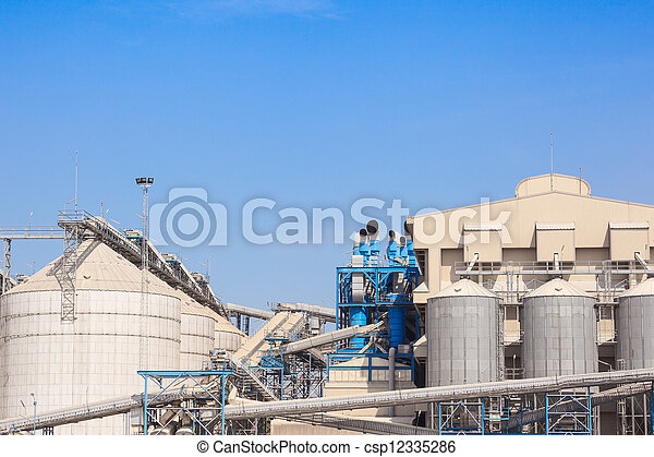 grain storage silos tank for agriculture - csp12335286