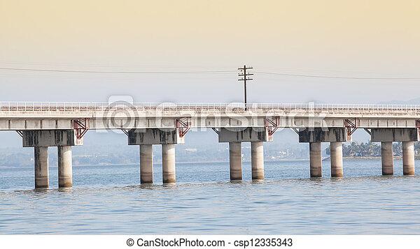 bridge over the river  - csp12335343