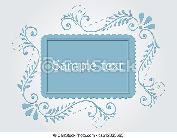 Vector vintage frame - csp12335665